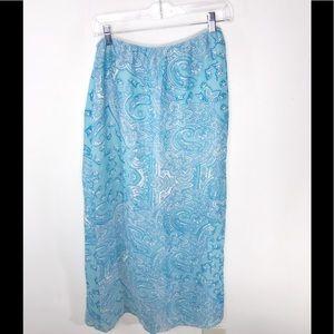 August Silk Skirt